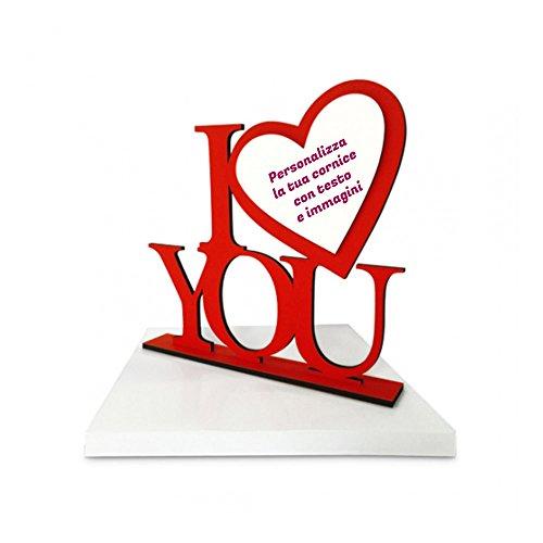 Cornice love portafoto di san valentino personalizzata con testo e foto