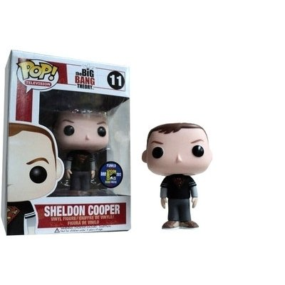 Funko - Figurine Big Bang Theory Sheldon Superman Pop 10cm - 0830395029153