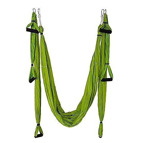 Hamsung Yoga Swing pour Flying Antigravity avec un sac de transport, Green