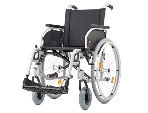Bischoff Rollstuhl S-Eco 300 Sitzbreite 46 cm Pannensichere Bereifung Duo-Armlehnen Reiserollstuhl Faltrollstuhl mit Steckachsensystem