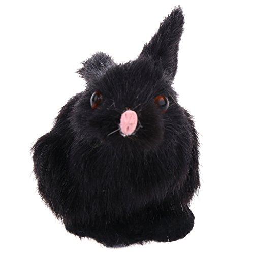 Plüsch-häschen-haus (Baoblaze Mini Süße Plüsch Häschen Kaninchen Hasen Stofftier Spielzeug Wohnkultur Ornament - Schwarz)