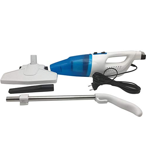 Tragbarer Mini-Staubsauger Push Rod Table Top Mini-Haushaltsmilbenentfernung Kleine Starke Saug-Staubsauger - Blau & Weiß - Tabletop-rod