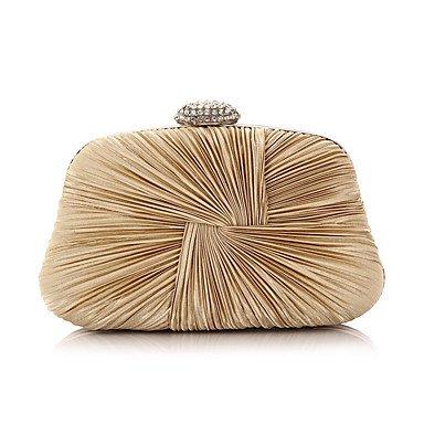 Frauen Chiffon Rüschen formale Veranstaltung/Party Hochzeit Abend Tasche Kupplung Umhängetaschen Almond
