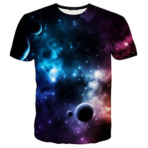 LAIDIPAS Unisex 3D Muster Gedruckte Beiläufige Kurze Hülsen-T-Shirts T-Stücke Style 24