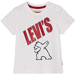 Levi's Kids NN10074 01 Short Sleeve Tee-Shirt, Bébé garçon, Blanc (White 01), 9-12 Mois (Taille Fabricant:12M)