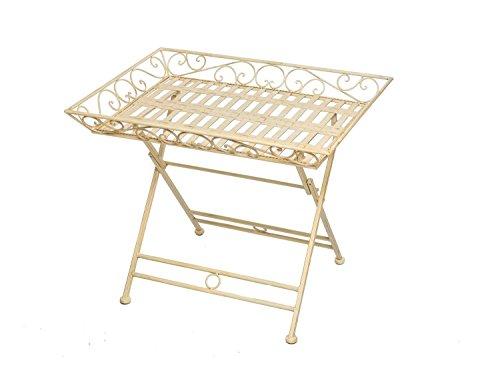 Tavolo da giardino in ferro battuto tavolo pieghevole tavolo bianco stile antico