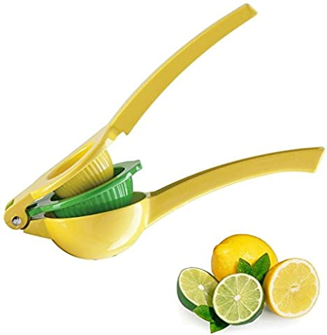 Premium Quality Zulay Metal Lemon Lime Squeezer - Manual Citrus Press Juicer