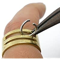 Messing Ring Fingerring Werkzeug Schmuckbedarf 19x8.5mm Biegeringe öffnen