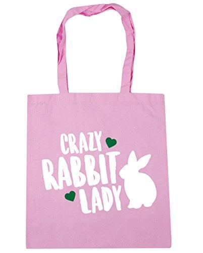 hippowarehouse-crazy-rabbit-lady-tote-shopping-gym-beach-bag-42cm-x38cm-10-litres