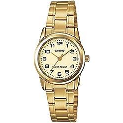 Casio Reloj con Movimiento Cuarzo japonés Woman LTP-V001G-9B 24.0 mm