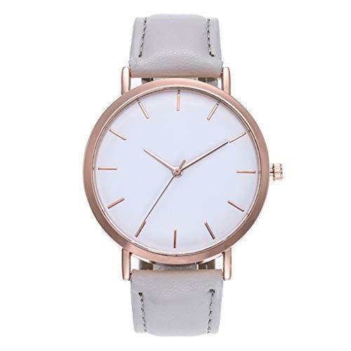 Dorical Armbanduhr für Damen, Mode Quarz Glas Kunstleder Uhren Hoch Qualität Elegant Uhr Armbanduhr für Frauen, Damenarmband, Freizeituhr, Modischuhr, Günstiguhr Leicht zu Verwenden(E) -
