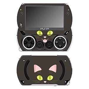 Disagu SF-14232_1011 Design Folie für Sony PSP Go – Motiv Katzengesicht dunkel transparent