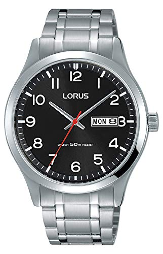 Lorus Mens Analogue Classic Quartz Watch with Stainless Steel Strap RXN37DX9