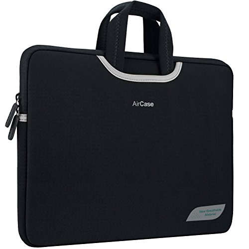 AirCase 15.6″ inch Designer Neoprene Protective Handle Sleeve for Laptops