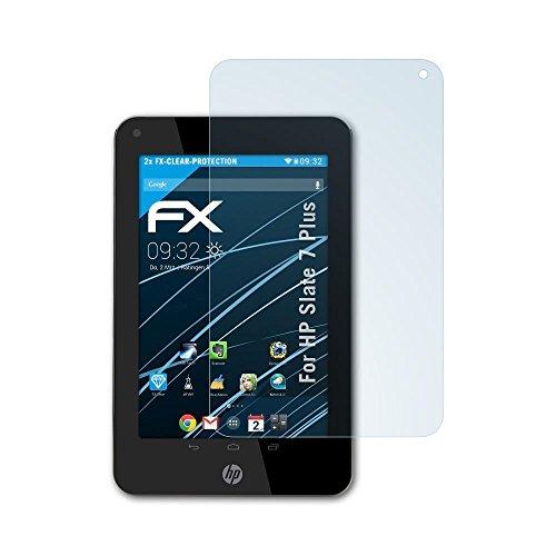Hp Slate Plus 7 (atFoliX Displayschutzfolie für HP Slate 7 Plus Schutzfolie - 2 x FX-Clear kristallklare Folie)