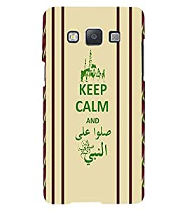 Fuson 3D Printed Quotes Designer back case cover for Samsung Galaxy A3 - D4383