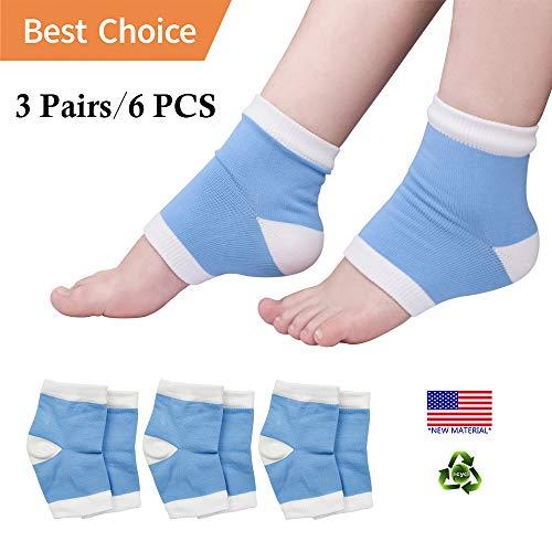 Gel feuchtigkeitsspendende Socken, Heelsocken, offene Zehensocken für trockene, rissige Fersen, gebrochene Fersen, trockene Füße, Fersenschmerzen und mehr. (3 Paar)