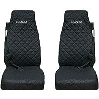 Sitzbezüge 2+1 Grau Schwarz Hochwertig für Iveco Hyundai Kia Mazda Mitsubishi
