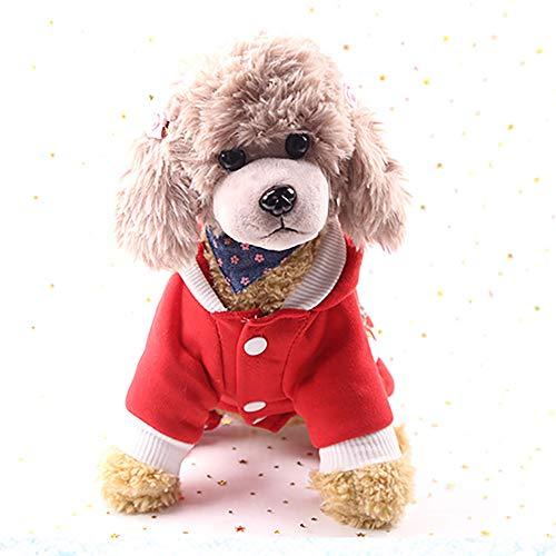 (YOUNICER Niedliche HundeBekleidung Pyjamas lustige Weihnachts-Knopf Kleidung)