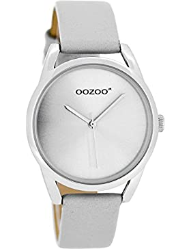 Oozoo Mädchen-/Damenuhr mit Lederband 36 MM Hellgrau JR290