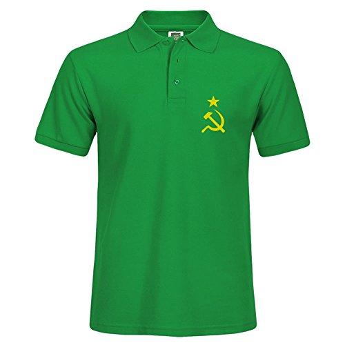 Hombres Alta calidad Camisa cuello martillo hoz Star