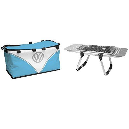 Volkswagen Grillständer + Picknickkorb, 2-in-1, Kühltasche, inkl. Einweg-Grill