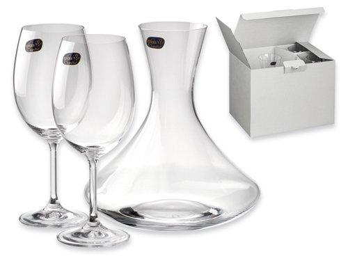 Lasergrafics-Shop Weingläser Set mit Karaffe 3-tlg.Wine-Set - mit individueller Gravur