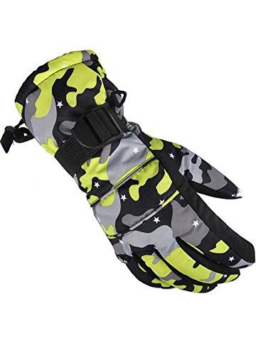 Wicky LS Ski-Handschuhe Wasserdichte Warme Handschuhe Winter Handschuhe (Gelb,...