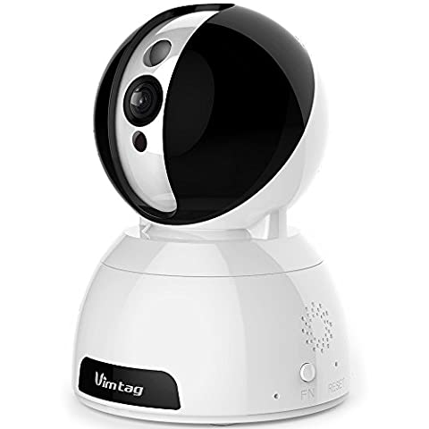 Vimtag® [Snowman CP1] HD Wifi Smart IP Home Security Camera,Modern Design,Baby&Pets&Elderly Monitor, Built-In Mic and Speak,Noise Suppression,Pan/Tilt,Two-Way Audio,Super Night Vision,Smoothly Watching Motion Detection with Real-time App push notifications
