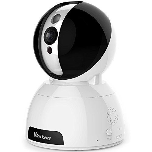 Vimtag®[ Pupazzo di neve CP1] HD WiFi Videocamera di sicurezza IP Nube intelligente, Di alta qualità e design unico, Bambino& Animali Tenere sotto controllo, Sorveglianza,Motion Detection, Audio bi-direzionale,Super Visione notturna con in tempo reale APP
