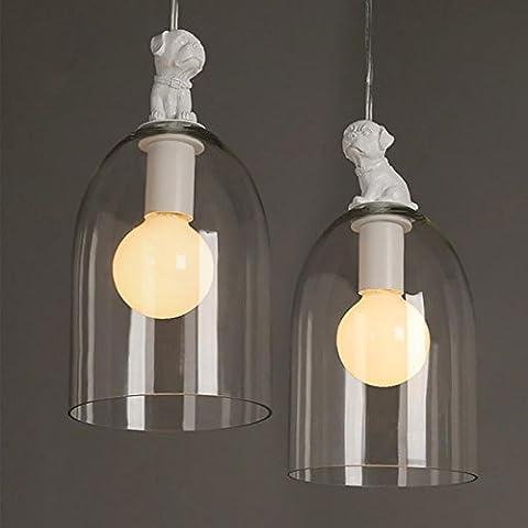 Hund Hängeleuchte Dekor Beleuchtung Glas Lampenschirm E27 Glühbirne Halter Cartoon Dekoration