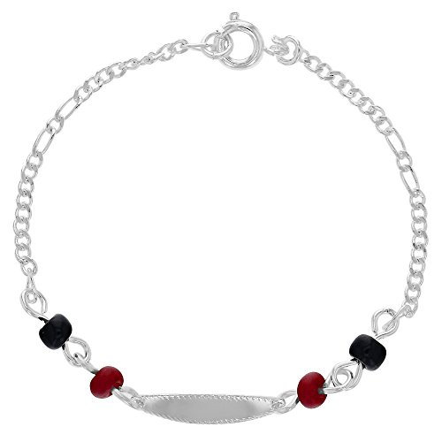 placcato-argento-id-evil-eye-protection-simulato-azabache-bracelet-for-kids-152-cm