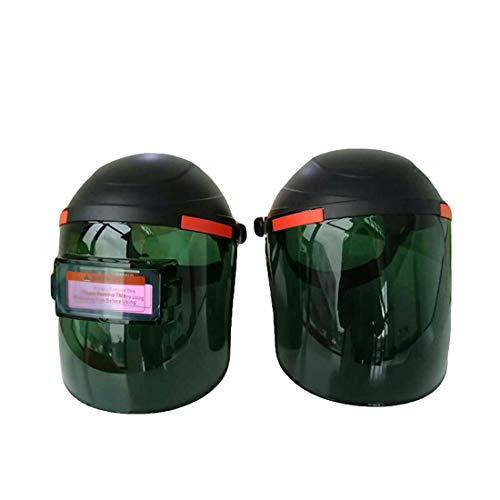 UICICI Solar automatische Dimmen Helm Plexiglas Dimmen Helm hohe Temperatur Argon Arc Schweißen Schweißer Helm (Farbe : Grün)