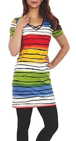 Graziella Florida Kleid Hauskleid Strandkleid 1/4 Arm Gr. 46 Freizeitmode Homewear