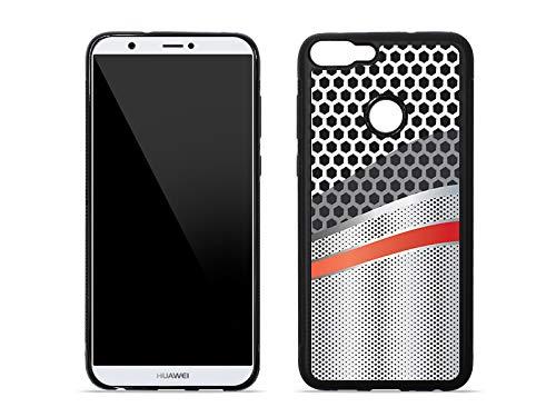 etuo Huawei P Smart - Hülle Hybrid Fantastic - Metallic - Handyhülle Schutzhülle Etui Case Cover Tasche für Handy
