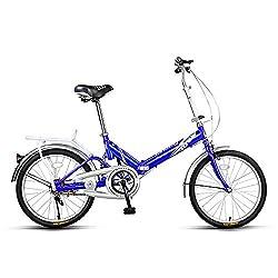 WAZA Faltrad 20 Zoll, Klapprad Erwachsene Freizeitbike1-Gang Shimano-Gangschaltung Quick-Fold-System Aluminium-Rahmen