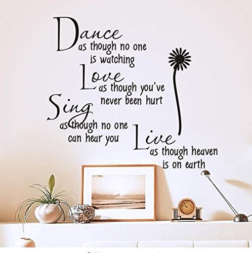 Tanz, Als Ob Niemand Liebe Zitat Wandtattoo Abnehmbare Pvc Wand Aufkleber Wohnkultur Schlafzimmer Diy Wand Kunst Beobachten