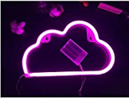 Cute Blue Neon Light,LED Cloud Sign Shaped Decor Light,Marquee Signs/Wall Decor for Christmas,Birthday Party,K