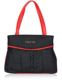 Fristo Black And Red Women Handbag (FRB-020)(Black And Red)