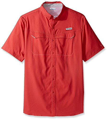 Columbia Mens Low Drag Offshore Short Sleeve Shirt Sunset Red