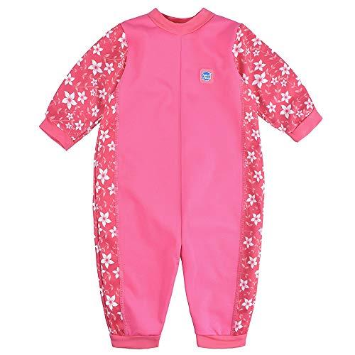 Splash About Baby Ganzkörper Schwimmanzug, Pink Blossom, 6-12 Monate (Herstellergröße: L) (10 Monate Altes Mädchen Kostüm)