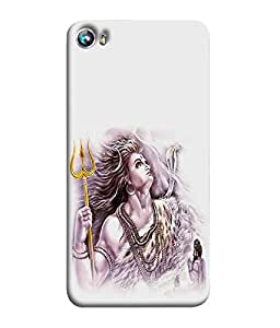 Nextgen Designer Mobile Skin for Micromax Canvas Fire 4 A107 (Shiva Shivaya Om Namah Sivaya Ardhanareeswar Trishul)