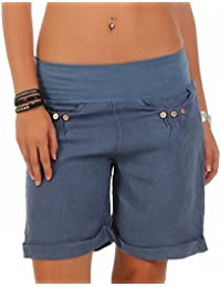 Malito Damen Bermuda aus Leinen   lässige Kurze Hose   Shorts für den  Strand   Pants 9483c2f01e