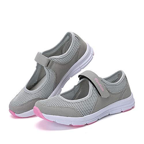 MRULIC Mode Damen Schuhe Sommer Sandalen Anti Slip Fitness Laufen Sportschuhe Prinzessin Turnschuhe(Grau,38 EU) - Kinder Für Graue Turnschuhe