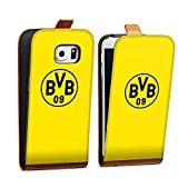 DeinDesign Samsung Galaxy S6 Edge Tasche braun Hülle Flip Case karamell Borussia Dortmund BVB Logo Gelb