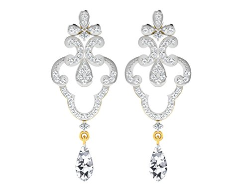 1dfa303f0 39% OFF on His & Her 18KT Yellow Gold Diamond and Sapphire Drop Earrings for