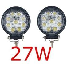 2 X 27W FARO DA LAVORO LUCE DI PROFONDITA' A LED 27W , 12V 24V LED Lampada Lavoro Offroad Truck Jeep Auto Barca Mining ATV SUV 4WD - Auto Accessori esterni