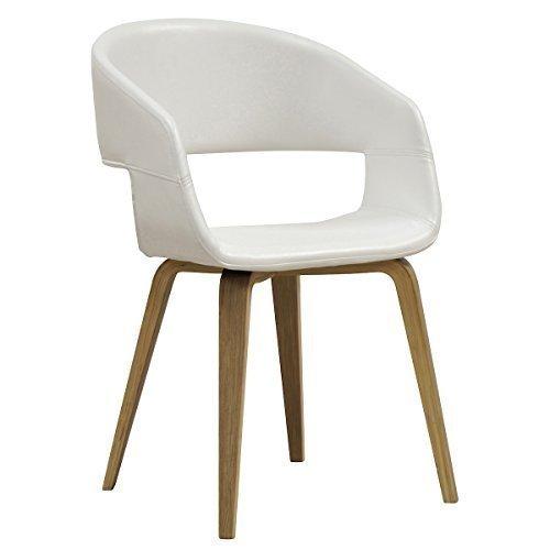 designbotschaft: Luzern Stuhl Weiß/Eiche - Esszimmerstühle 1 Stck -