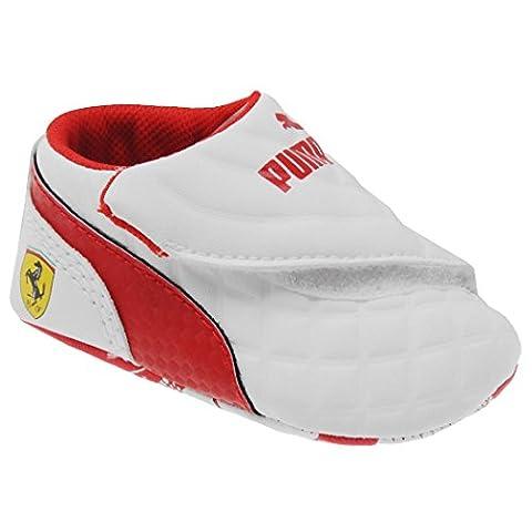 Puma , {Chaussures premiers pas pour bébé (garçon) - blanc - White/Rosso Corsa,