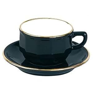 2 Tasses moka Bistrot Noir et or - 9 cl